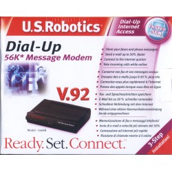 Modem Dialup External  U.S.Robotics 56k Model 5668B Serial Port